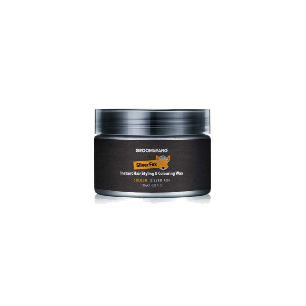 Groomarang Silver Fox Instant Free Style Hair Styling & Colouring Wax Grey Temporary Dye BZ119