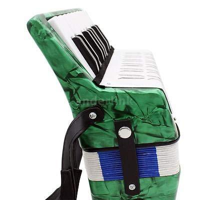 FidgetGear Green Mini Small 17-Key 8 Bass Accordion Educational Toy for Kids Gift E9V9