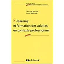 E-learning & formation adultes contexte profess.