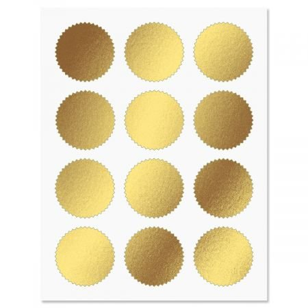 Gold Certificate Seals - Set of 36 Blank foil Stickers, 2