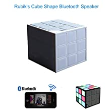 Mini Magic Cube Colorful And Portable Wireless Bluetooth Speaker LED Flash Light For Cellpone Computer PC