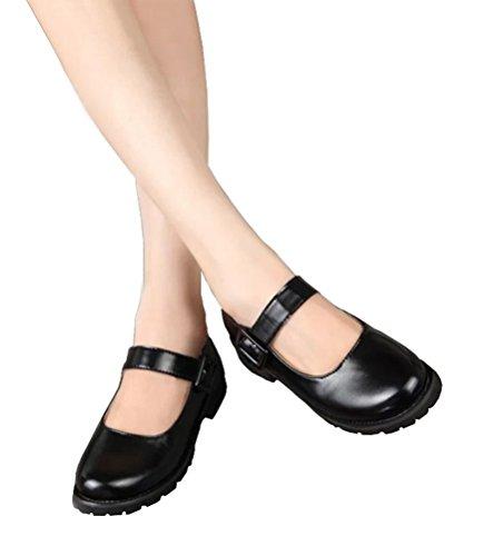 Nuoqi Anime Japan School Girls JK Uniform Cosplay Black Party Shoes