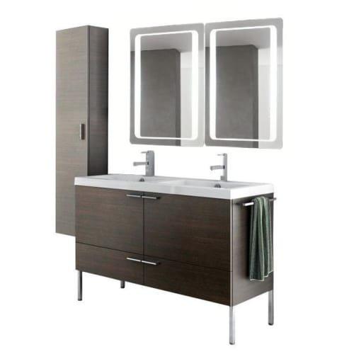 Nameeks ANS296 ACF 47″ Floor Standing Vanity Set with Wood Cabinet, Ceramic Top, Wenge