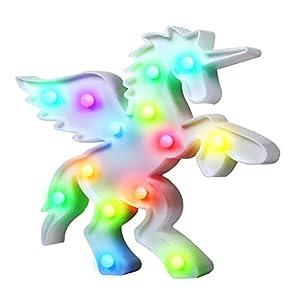 Birthday Gifts Rainbow Unicornio Light LED Decoration Night Lamp for Party Kids Unicorn Toys Room,Halloween,Home,Christmas Decor (rainbow unicorn body)