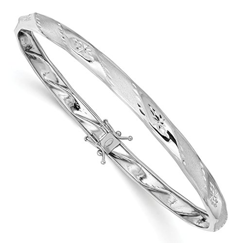 14k White Gold Flexible Bangle Bracelet Cuff Expandable Stackable Fine Jewelry Gifts For Women For Her from ICE CARATS