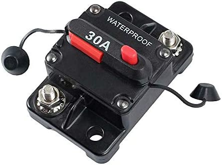 Waterproof Car Circuit Breaker Trolling – Bentrance 30 Amp with Manual Reset Suitable for Motor Auto Car Marine Boat Bike Stereo Audio, 12V-24V DC 30A