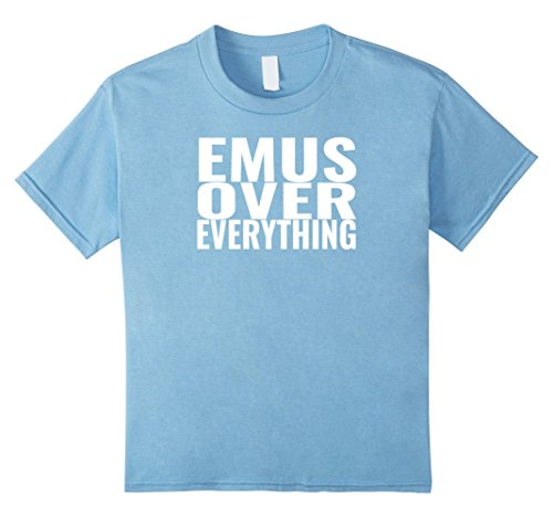 Kids Funny Emu Gift Tee Shirt 4 Baby Blue