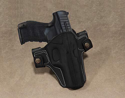 Leather OWB Dual Snap Holster for Walther P99/Glock 43/Colt 1911 5