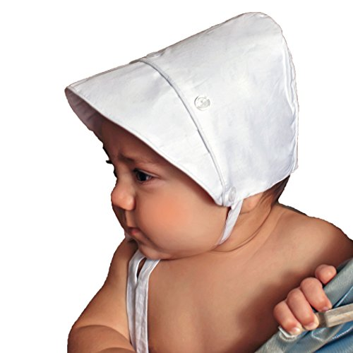 Classic Lined Hat - Huggalugs Baby Boys Classic White Bonnet (18 Months)