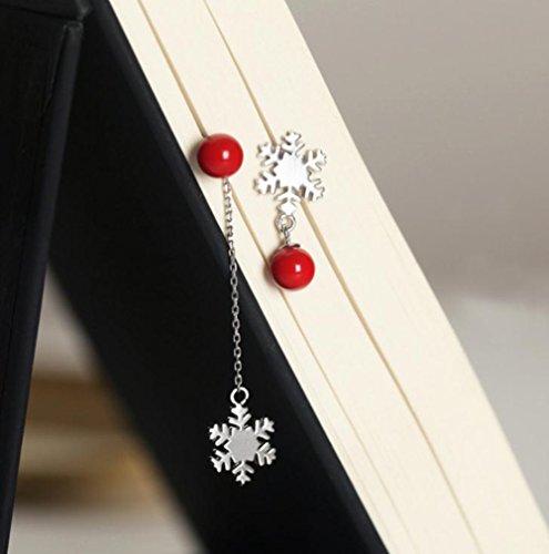 Perle Gioielli Di Natale Fiocco Orecchini Per Donna Regalo Cosanter Da 6 Neve 1cm 8wqtpxA