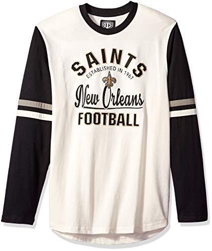 NFL New Orleans Saints Male OTS Chisel Long sleeve Crew Tee 2c11470fb