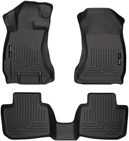 Husky Liners 99801 Black Weatherbeater Front & 2nd Seat Floor Liners Fits 2016-2017 Subaru Crosstrek, 2012-2016 Subaru Impreza