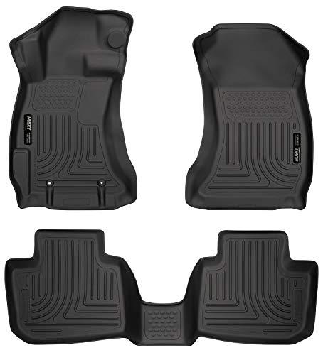 Husky Liners 99801 Black Weatherbeater Front & 2nd Seat Floor Mats Fits 2016-17 Crosstrek, 2012-16 Subaru Impreza
