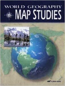 World geography map studies student a beka amazon books flip to back flip to front gumiabroncs Image collections
