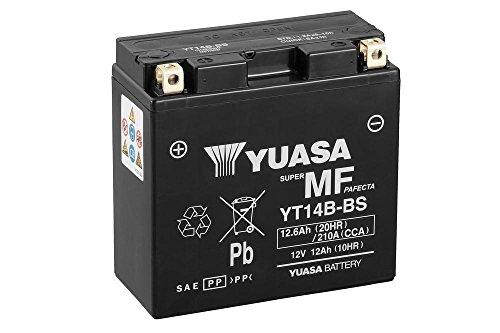 YUASA YT14B-BS – Accu 12 V/12 AH SENZA ACIDO (dimensioni: 150 x 70 x 145) per Yamaha FJR1300 anno di costruzione 2001