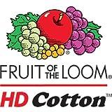 Fruit of the Loom 5.6 oz Cotton Long Sleeve T-Shirt - BLACK - Medium