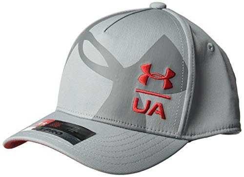 Under Armour Boys Billboard Cap 3.0, Steel (035)/Red, Youth Small/Medium (Under Armour Youth Cap)