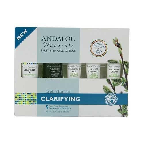 - Andalou Naturals, Facial Clarifying Get Started Kit, 5 Count