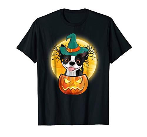 Boston Terrier Pumpkin Tee Scary Halloween T-Shirt ()