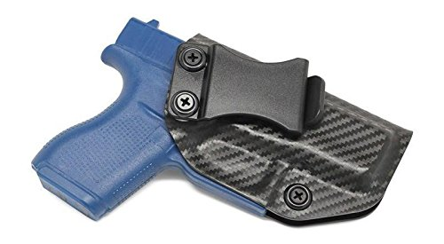 Concealment Express IWB KYDEX Holster: fits Glock 42 - Custom Fit - US Made - Inside Waistband - Adj. Cant/Retention (CF BLK, Right)