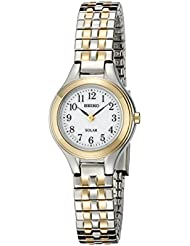 Seiko Womens SUP100 Solar Expansion Two-Tone Stainless Steel Classic Watch