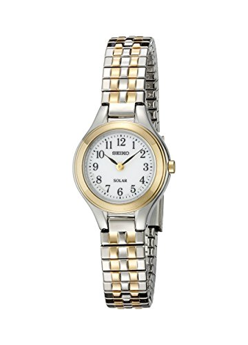 Seiko Women's SUP100 Solar Expansion Two-Tone Stainless Steel Classic (Case Two Tone Expansion Bracelet)