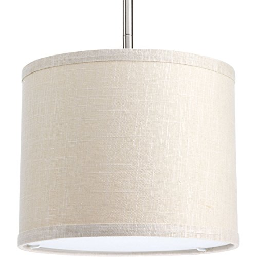 """Progress Lighting P8828-56 Transitional Drum Shade from Markor Collection in Light Finish, 10"""", Khaki"""