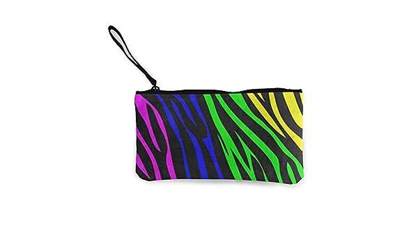Billetera, Monederos, Canvas Coin Purse Rainbow Animal Zebra ...