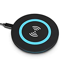 [2016 Upgraded] Fleck Wireless Charger, Wireless Charging Pad for Samsung Galaxy S7 S6 / S7 S6 Edge Plus / S6 Edge / Note 5, Nexus 4 / 5 / 6 / 7 (2013), Nokia Lumia 920 and All Qi-Enabled Devices