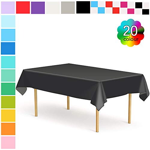 ETMURY Plastic Tablecloth 12 Pack Disposable Rectangle Table Covers 54 in. x 108 in. for 6 to 8 Foot Tables Indoor or Outdoor Parties Birthdays Weddings Christmas -