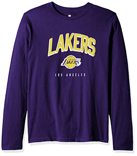 - NBA by Outerstuff NBA Youth Boys Los Angeles Lakers Dunked Long Sleeve Tee, Purple, Youth X-Large(18)