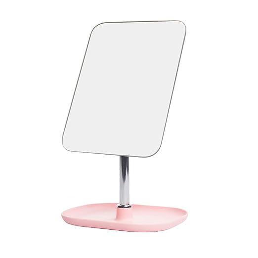 Aly Mesa de tocador Espejo Simple Espejo Cuadrado Chica Espejo de ...