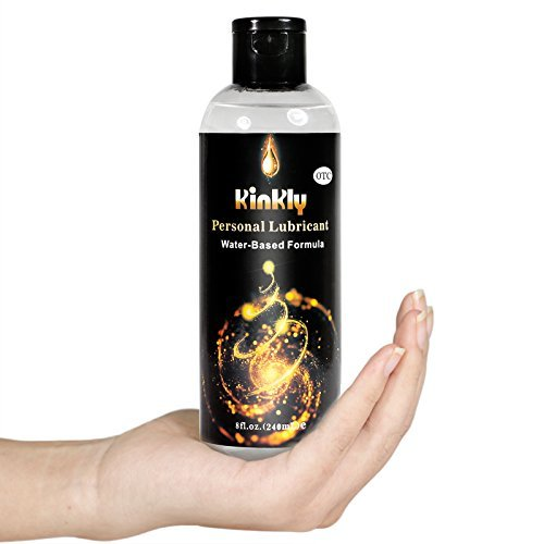 KINKLY Water Based Personal Lubricant Lube (8 Fl Oz Bottle)