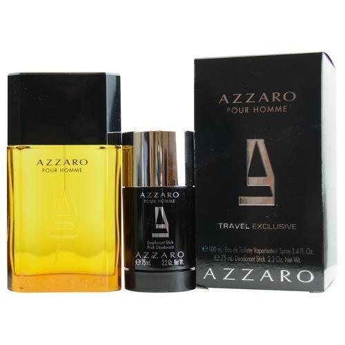 Azzaro Azzaro Pour Homme Gift Set II. Eau De Toilette 3,4 oz + Deodorant Stick 2,5 oz (Homme Set Ii Fragrance Pour)