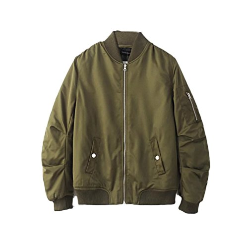 Warm Outdoor Green Coats Bomber Mens Winter Zipped Padded Classico Jackets Zhhlaixing OUqH10wH