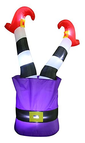 4.5' Airblown Witches Legs in the Air Halloween Inflatable ()