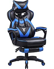 Gaming Chair with Footrest, Recliner Computer Chair, Gamer Chair with Massage, High Back Gaming Desk Chair, Ergonomic Gaming Computer Chair, Big and Tall Gaming Chairs for Adults…