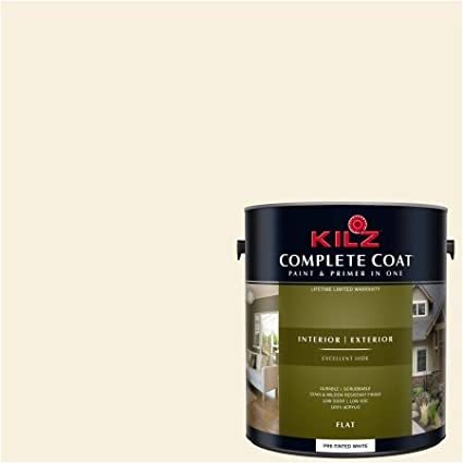 KILZ COMPLETE COAT Interior/Exterior Paint U0026 Primer In One #LE190 01 Milk