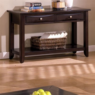 Baldwin Sofa Table in Cappuccino Finish by Furniture of America by Furniture of America