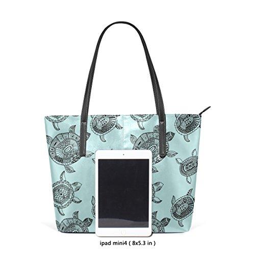 Purse Handle Large Shoulder Turtles Women's Handbags Satchel Bennigiry Top Seamless Pattern Tote Bags w06XwxqT7