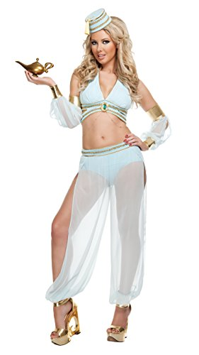 [Starline Sexy Dreamy Genie Women's Costume 5 Piece Set, Light Blue, Small] (Sexy Genie Costumes)