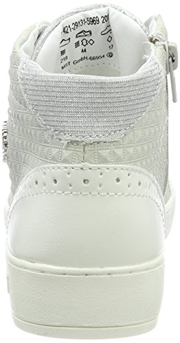 Bugatti Damen 421291315969 Hohe Sneaker Weiß (White/ Light Grey)
