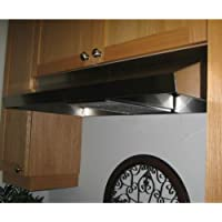 Imperial 1936ENV 190 CFM 36 Wide Re-Circulating Under Cabinet Range Hood with C, Stainless Steel