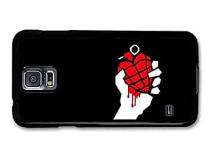 AMAF ? Accessories Green Day Punk Rock Band Red Grenade In Hand case for Samsung Galaxy S5