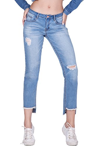 Arizona Boys Jean (naafii Womens Junior Fit Modern Series Curvy New Basic Boyfriend Style Jeans Destroyed Ripped Jeans)