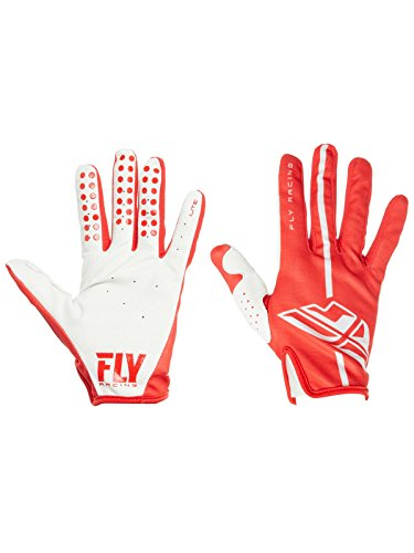 FLY RACING LITE GLOVES RED/GREY SZ 10 371-01210