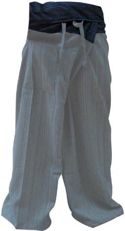 kittiya 2 tonos Pescador Pantalones Tailandeses Pantalones Tamaño Libre Yoga Algodón: Amazon.es: Deportes y aire libre