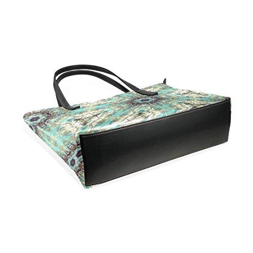 Handtasche COOSUN und Frauen Trippy Blue PU Leder für Schultertasche Tasche Handtaschen XrXYqx