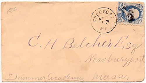 US Postal Cover 1879 Canceled Freeport, ME Feb.13,1879 One Cent Franklin Postage Stamp Scott - Freeport Me Stores