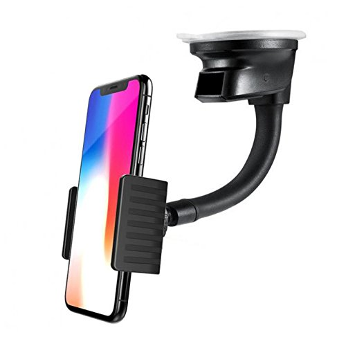 Premium Car Mount Dash Windshield Phone Holder Window Rotating Dock Stand [Strong Grip Gooseneck] for Verizon Samsung Galaxy J3 - Verizon Samsung Galaxy J3 Mission Eclipse